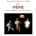 Affiche du concert pop-rock de Pepe au café associatif du Sud-Essonne LePtitCerny