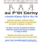 Scene ouverte au café associatif de Cerny